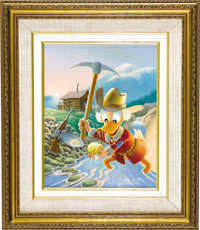 "Carl Barks - ""Eureka! A Goose Egg Nugget"" Painting Original Art (1996)"