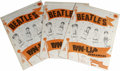 Music Memorabilia:Memorabilia, Beatles Original Pin-Up Screamers Poster Set Group of 3 (1964). Lot of three, unused original 1964 Beatles Pin-up Screamers ...
