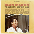 Music Memorabilia:Autographs and Signed Items, Sammy Davis Signed Contract and Dean Martin Signed Album Cover.Includes a cover for the 1964 LP The Door is Still Opento...