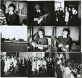 "Music Memorabilia:Photos, Beatles Meeting Royalty Rare Photos. A rare set of nine b&w 5""x 6"" snapshots of the Beatles backstage, performing before a ..."