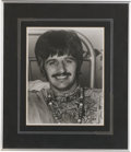 "Music Memorabilia:Autographs and Signed Items, Ringo Starr Signed Photo. A b&w 8"" x 10"" photo of the Beatles'drummer, signed by him in black ink. In Excellent condition, ..."