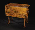 Furniture : American, An American Queen Anne Gate-Leg Table. Unknown maker, American.Eighteenth Century. Wood. Unmarked. 28 inches high x 31 in...