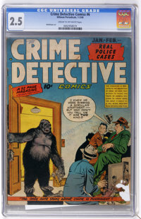 Crime Detective Comics #6 (Hillman Fall, 1949) CGC GD+ 2.5 Cream to off-white pages