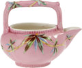 Movie/TV Memorabilia:Memorabilia, Ava Gardner Owned Ceramic Teapot. A small, decorative pink teapotwith bamboo motif, in Excellent condition. From the Ava ...