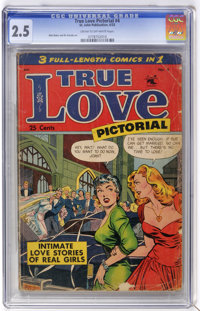 True Love Pictorial #4 (St. John, 1953) CGC GD+ 2.5 Cream to off-white pages