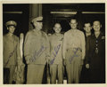 """Autographs:Military Figures, 1943 Quebec Conference Photograph Signed """"H.H. Arnold,"""" """"H.S. Vandenberg,"""" """"Emmett O'Donnell,"""" """"Muir S. Fairchild,"""" and ..."""