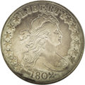 Early Half Dollars: , 1802 50C --Cleaned--ANACS. XF40 Details. O-101, R.3. The only diesfor this early Heraldic Eagle date. Mottled khaki-gold an...