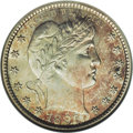 Barber Quarters: , 1896-S 25C --Cleaned--ANACS. Unc. Details, Net MS60. The 1896-S isthe earliest member of the famous trio of key date Barber...