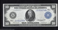 Large Size:Federal Reserve Notes, 1914 $10 Federal Reserve Note, Fr-942, Choice About ...
