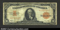 Large Size:Gold Certificates, 1922 $10 Gold Certificate, Fr-1173, Very Good-Fine. The face ...