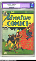 Golden Age (1938-1955):Superhero, Adventure Comics #56 (DC, 1943) CGC Apparent VF- 7.5 Slight (P) White pages. Bernard Baily cover with Siegel and Shuster int...