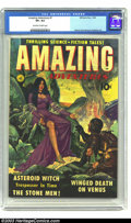 Golden Age (1938-1955):Science Fiction, Amazing Adventures #1 (Ziff-Davis, 1950) CGC VF+ 8.5 Off-white towhite pages. Cool science fiction comic featuring art by W...