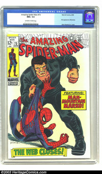 Amazing Spider-Man #73 (Marvel, 1969) CGC NM+ 9.6 Off-white to white pages. John Romita Sr. cover. John Buscema and Jim...