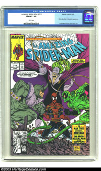 Amazing Spider-Man #319 (Marvel, 1989) CGC NM/MT 9.8 White pages. Rhino, Backlash, and Scorpion appearance. Todd McFarla...