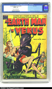 An Earth Man on Venus nn (Avon, 1951) CGC FN/VF 7.0 Cream to to off-white pages. Sexy cover by Gene Fawcette. Wally Wood...