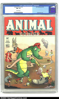 Animal Comics #10 (Dell, 1944) CGC NM- 9.2 Off-white pages. Pogo. Walt Kelly cover. This is currently the only copy of t...