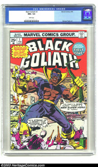 Black Goliath #1 (Marvel, 1976) CGC NM+ 9.6 White pages. George Tuska art. Two copies have received higher grades from C...
