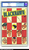 Golden Age (1938-1955):Adventure, Blackhawk #11 (Quality, 1946) CGC NM 9.4 Off-white pages. Reed Crandall art. Al Bryant cover. This is the highest grade CGC ...