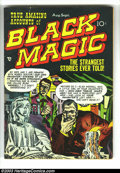Golden Age (1938-1955):Horror, Black Magic #6 (Prize, 1951) Condition: VG+. Jack Kirby cover.Simon and Kirby, Meskin, and Roussos art. Overstreet 2003 VG ...