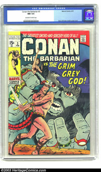 Conan The Barbarian #3 (Marvel, 1971) CGC NM 9.4 Off-white to white pages. Barry Windsor-Smith cover and art. Overstreet...