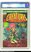 Bronze Age (1970-1979):Horror, Creatures on the Loose #21 (Marvel, 1973) CGC NM 9.4 White pages.Jim Steranko cover. Gray Morrow art. Only one higher-grade...