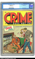 Golden Age (1938-1955):Crime, Crime Does Not Pay #40 Crowley pedigree (Lev Gleason, 1945) CGC VF/NM 9.0 Cream to off-white pages. Outstanding Charles Biro...