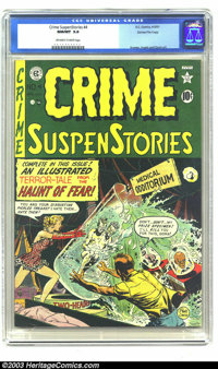 Crime SuspenStories #4 Gaines File pedigree 3/11 (EC, 1951) CGC NM/MT 9.8 Off-white to white pages. Chilling Johnny Crai...