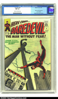 Daredevil #8 (Marvel, 1965) CGC NM 9.4 Cream to off-white pages. Wally Wood cover and art. Second highest CGC certificat...