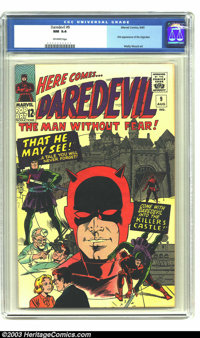 Daredevil #9 (Marvel, 1965) CGC NM 9.4 Off-white pages. First appearance of the Organizer. Wally Wood art. Overstreet 20...