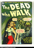 "Golden Age (1938-1955):Horror, The Dead Who Walk nn (Realistic Comics, 1952) Condition: FN-.Gerber ""uncommon."" First time we have offered this one-shot. O..."