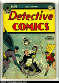 Golden Age (1938-1955):Superhero, Detective Comics #99 (DC, 1945) Condition: GD+. Dick Sprang cover and art. Penguin cover. Overstreet 2003 GD 2.0 value = $11...