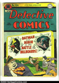 Golden Age (1938-1955):Superhero, Detective Comics #104 (DC, 1945) Condition: GD. Dick Sprang cover and art. George Roussos art. Overstreet 2003 GD value = $7...
