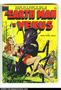 """An Earth Man on Venus nn (Avon, 1951) Condition: Apparent VG. Fawcette cover, Wood art (26 pages!). Gerber """"scarce..."""