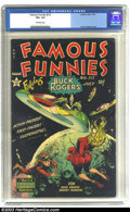 Golden Age (1938-1955):Science Fiction, Famous Funnies #212 (Eastern Color, 1954) CGC VG+ 4.5 Off-whitepages. Wondrous Frank Frazetta cover. Overstreet 2003 VG 4.0...