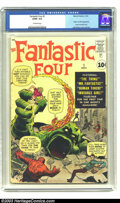 Silver Age (1956-1969):Superhero, Fantastic Four #1 (Marvel, 1961) CGC GD/VG 3.0 Off-white pages. Origin and first appearance of the Fantastic Four. Jack Kirb...