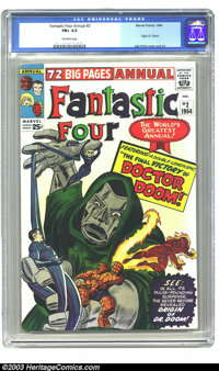 Fantastic Four Annual #2 (Marvel, 1964) CGC FN+ 6.5 Off-white pages. Origin of Dr. Doom. Jack Kirby cover and art. Overs...