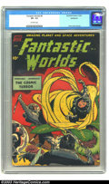Golden Age (1938-1955):Science Fiction, Fantastic Worlds #6 (Standard, 1952) CGC VF- 7.5 Off-white pages.Alex Toth cover and art. Overstreet 2003 VF 8.0 value = $1...