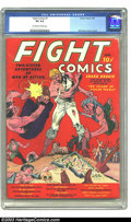 Golden Age (1938-1955):Miscellaneous, Fight Comics #1 (Fiction House, 1940) CGC VG 4.0 Off-white to white pages. Will Eisner cover and art. George Tuska art. A Ge...