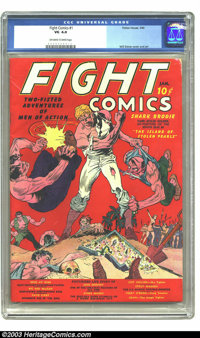 Fight Comics #1 (Fiction House, 1940) CGC VG 4.0 Off-white to white pages. Will Eisner cover and art. George Tuska art...