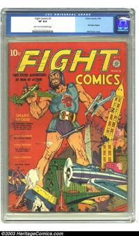 Fight Comics #3 (Fiction House, 1940) CGC VF 8.0 Light tan to off-white pages. Striking Will Eisner cover. Rip Regan, th...