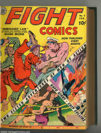 Fight Comics Bound Volume of #1 - 12 (Fiction House, 1940-41). An incredible volume of the first dozen issues of one of...