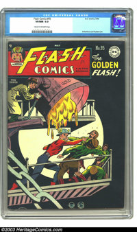 Flash Comics #95 (DC, 1948) CGC VF/NM 9.0 Cream to off-white pages. Beautiful, glossy black cover. CGC's highest certifi...