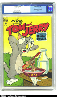 Four Color #193 Tom and Jerry - Mile High pedigree (Dell, 1948) CGC VF+ 8.5 Off-white to white pages. First issue of the...