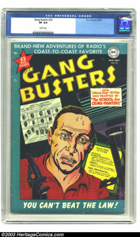 Gang Busters #23 (DC, 1951) CGC VF 8.0 White pages. One of only two copies of issue #23 to be certified by CGC to date...