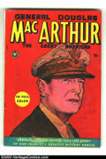 Golden Age (1938-1955):Non-Fiction, General Douglas MacArthur #nn (Fox, 1951) Condition: VG. True lifestory. Overstreet 2003 VG 4.0 value = $42....