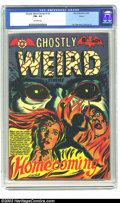 Golden Age (1938-1955):Horror, Ghostly Weird Stories #124 Aurora pedigree (Star, 1954) CGC FN+ 6.5Off-white pages. Great Fifties horror with L. B. Cole co...