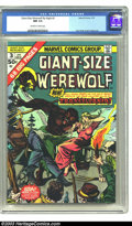 Bronze Age (1970-1979):Horror, Giant-Size Werewolf By Night #3 (Marvel, 1975) CGC NM 9.4 Off-whiteto white pages. Square bound issue, with the Werewolf in...