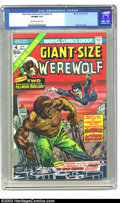 Bronze Age (1970-1979):Horror, Giant-Size Werewolf By Night #4 (Marvel, 1975) CGC VF/NM 9.0Off-white to white pages. Great-looking square bound issue, fea...