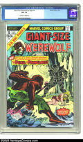 Bronze Age (1970-1979):Horror, Giant-Size Werewolf By Night #5 (Marvel, 1975) CGC NM 9.4 Off-whiteto white pages. Another cool square-bound issue featurin...