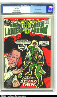 Green Lantern #83 (DC, 1971) CGC NM 9.4 Off-white to white pages. Neal Adams cover and art. Carol Ferris learns G.L.'s i...